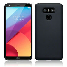 Genuine LG G6 Case Slim Rugged Protective Flexible TPU Gel  Rock Cover Black