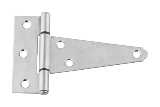 National Hardware  4 in L Stainless Steel  Steel  Door Hinge  1 pk