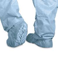 Medline Polypropylene Non-skid Shoe Covers Large Blue 100/box Cri2002 on sale