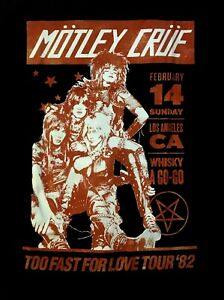 MOTLEY CRUE cd lgo WHISKEY A GO GO '82 Official SHIRT XL New too fast for love