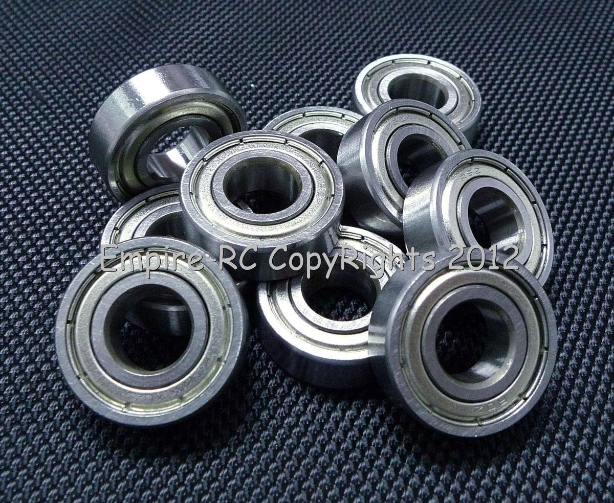 (50 PCS) (R6ZZ) (3 8  X 7 8  X 9 32 ) Double Metal Shielded Ball Bearing