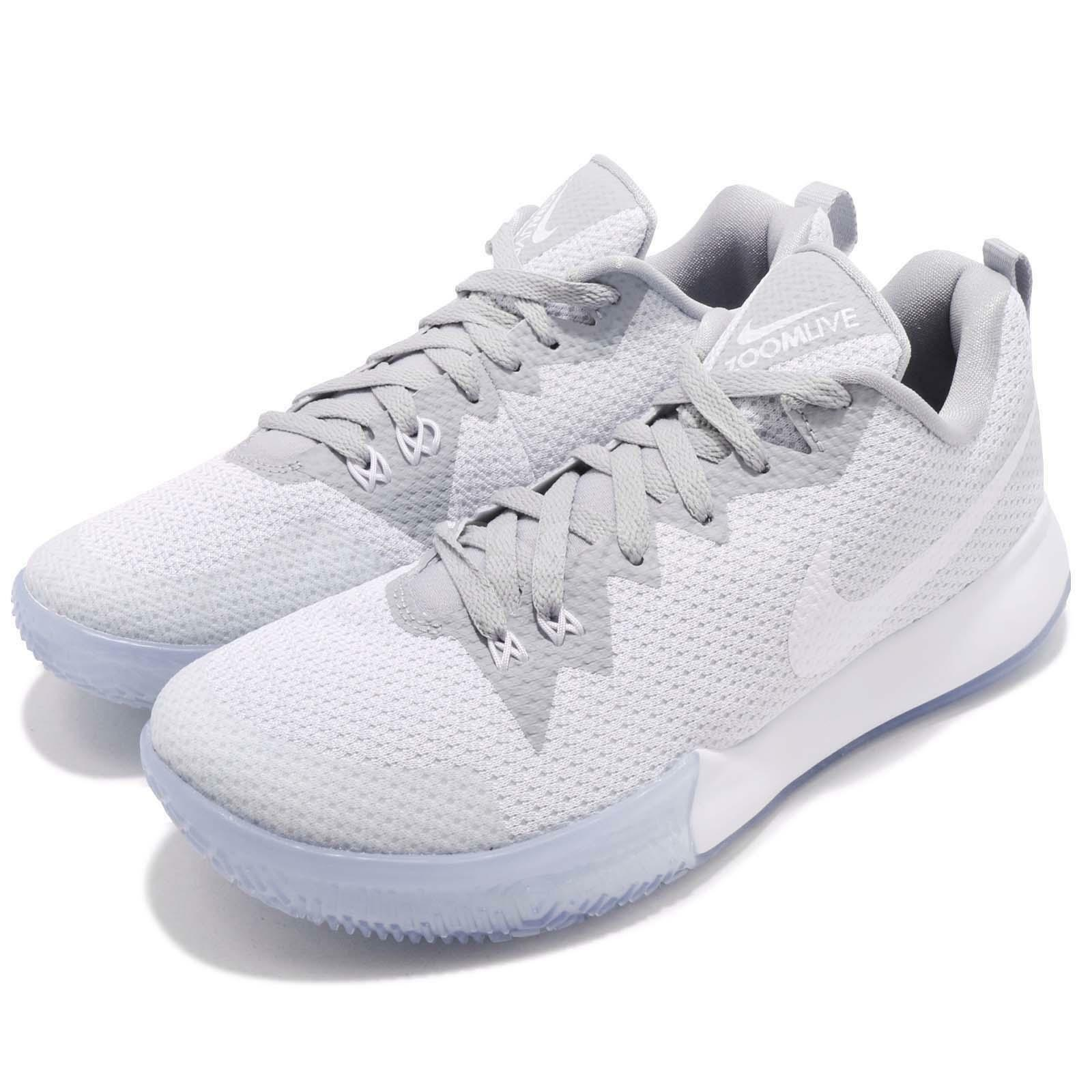 Nike Zoom Live II EP 2 White Wolf Grey Men Basketball Sneakers AH7567-101