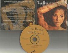 TONI BRAXTON & KENNY G How could an Angel INSTRUMENTAL 1997 PROMO DJ CD Single