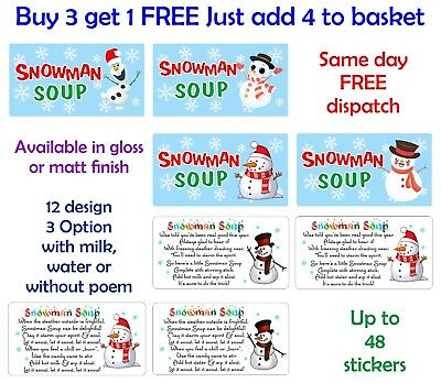 This is a picture of Snowman Soup Printable intended for treat