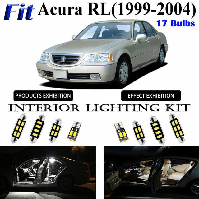 17 Bulbs Xenon White LED Interior Dome Light Kit Package