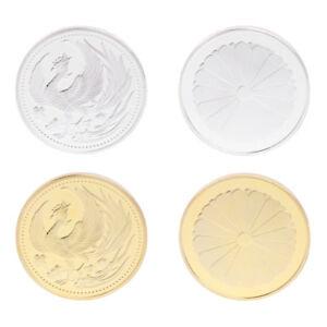 Japan-Phoenix-Collection-Commemorative-Coin-Gift-Souvenir-Crafts-Art-Gold-Silver