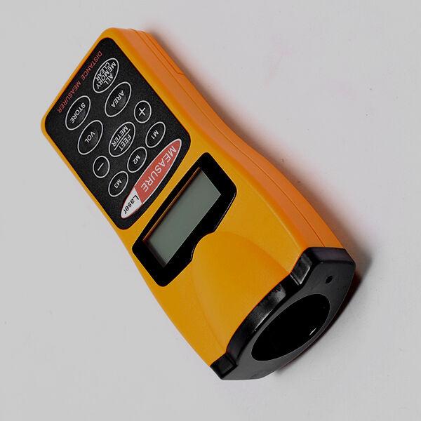 Promotions LCD Ultrasonic Laser Meter Pointer + Distance Measurer Range 60FT