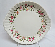 "Royal Vale Porcelain Serving Plate w/ Handles 10"" rb73"