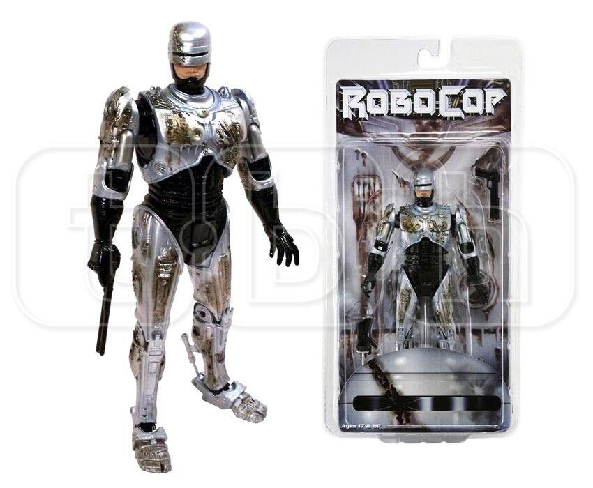NECA - Battaglia DAMAGED Robocop - 7   figura azione - NUOVO / conf. orig.