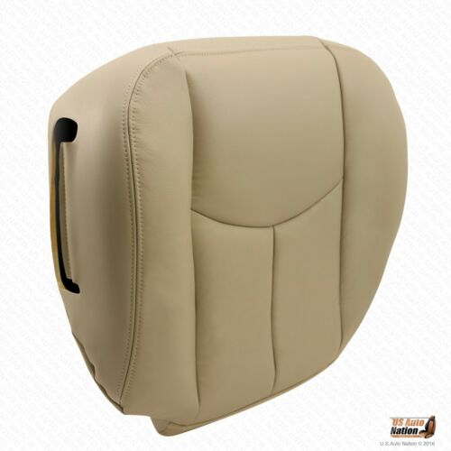 2003-2006 Chevy Tahoe Driver Bottom Leather Seat Cover Plus Foam Cushion Tan