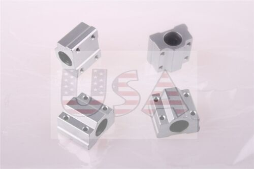 4Pcs SC8UU SCS8UU Linear Motion Ball Bearing Slide Bushing RepRap 3D Printer W