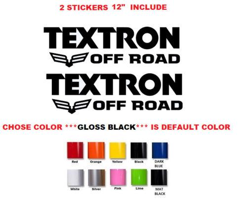 "#711 12/"" PAIR Textron Off Road ATV Decal Sticker"