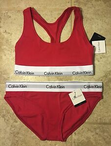 19ac65d10a CALVIN KLEIN Bralette Bikini Set SPORT BRA MODERN FIT Racerback ...