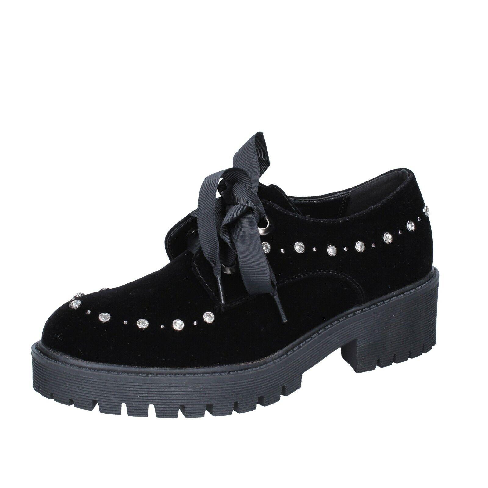 Femme chaussures Laura Biagiotti 4 (UE 37) élégant velours noir BS953-37