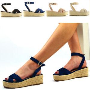 Para-mujeres-Sandalias-De-Tacon-De-Cuna-Con-Plataforma-Correa-De-Cruz-Para-Damas-Alpargatas-Zapatos