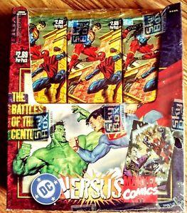 1995-DC-Comics-Versus-Vs-Marvel-Trading-Cards-SEALED-BOX-Superman-vs-Hulk