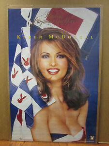 92ec2aa5966 Vintage Karen McDougal Playmate of the Year original hot girl poster ...