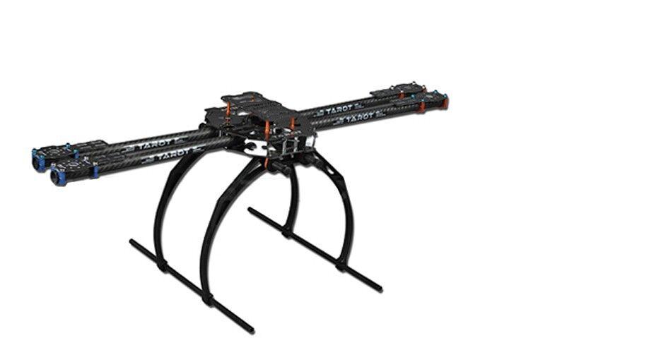 F05544 Tared  650 4-Axis Folding 3K Carbon Fiber Aluminum Tubes Frame