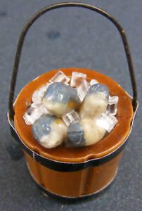 4x Casa de Muñecas en Miniatura suelto en rodajas fresa y creamtarts