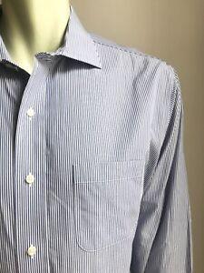Brooks Brothers Shirt, Boston Stripes, XL (17-1/2, 35), Regent / Slim, Exc Cond