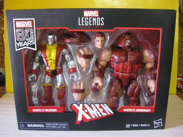 "2019 Marvel Legends Marvel 80 Years 6"" X-Men Colossus vs. Juggernaut 2 Pk New"