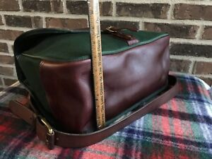 VINTAGE-JW-HULME-BATTENKILL-CANVAS-amp-LEATHER-MAIL-BAG-STYLE-BRIEFCASE-BAG-R-798