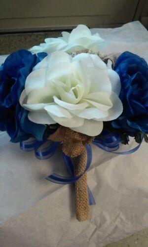 21 Pc wedding Pkg Royal Blue Ivory /& Burlap RUSH ORDERS AVAIL ANY COLORS