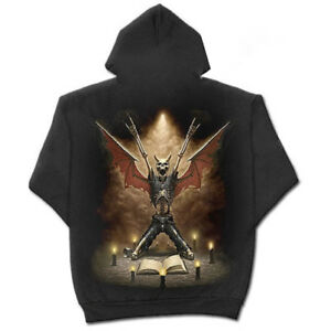Spiral-Direct-Skeletal-Worship-Pentagram-Wings-Black-Hoodie-Hooded-Pullover-Top