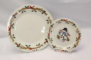 Home-Essentials-Woodland-Celebration-Dinner-and-Salad-Plates-Lot-of-8
