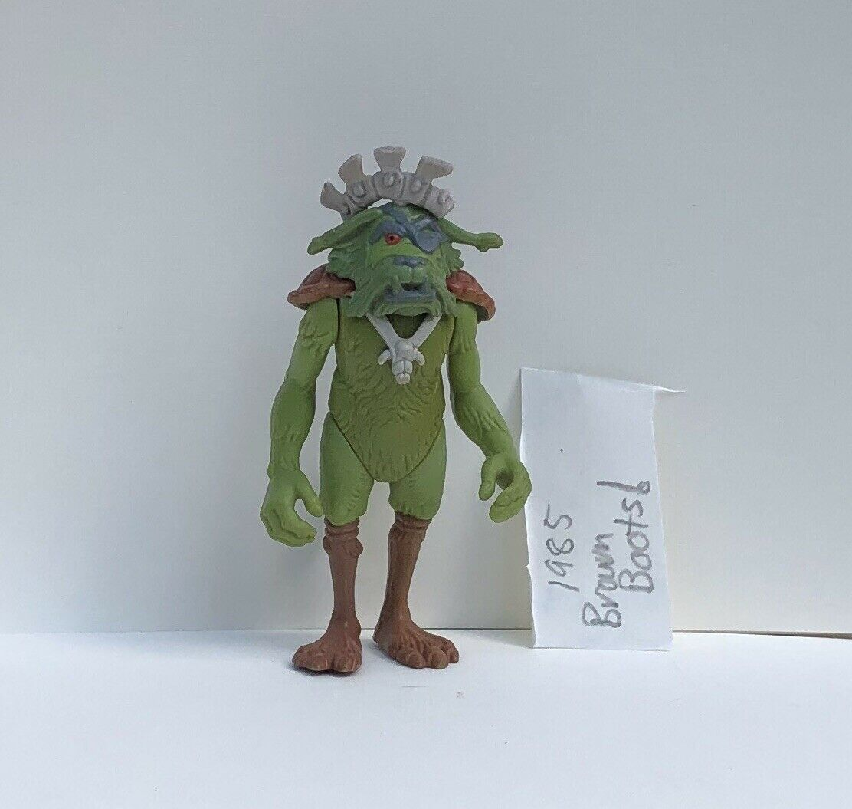 1985 Vintage Star Wars KING GORNEESH Action Figure Ewoks Cartoon Marronee Paint