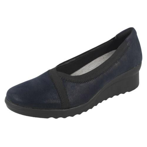 tacón azul mujer Zapatos con Navy cuña para de Caddell Clarks Dash ZYvv5