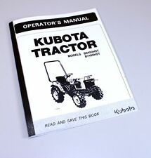 Kubota B6100hst B7100hst Tractors Operators Owners Manual Diesel 4wd 2wd