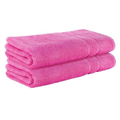 m² SET 2x Pink FROTTEE  Badetuch 100 x 150 cm Badetücher 100/% Baumwolle 500g