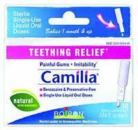 Boiron Camilia Teething Relief, 30 Count (0.034 Fl Oz Each) , New, Free Shipping