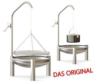 Gartengrill Rost Ø 50 cm Korono Dreibein Schwenkgrill Handmade Höhe 180 cm