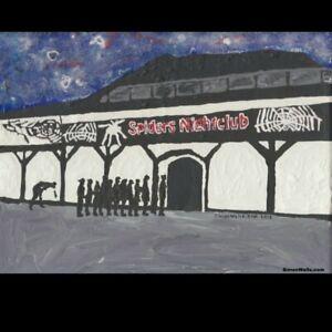 Spiders nightclub Hull. Postcard of original painting . Limited edition of 100