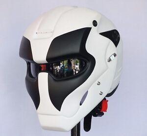 Custom White Black Deadpool Man Motorcycle Helmet Casco Cosplay Wolf