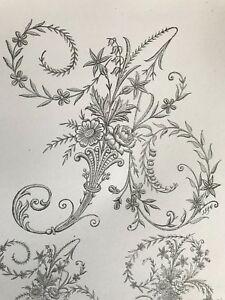 GORGEOUS ALPHABET Edwardian Embroidery Design -N1- Free shipping digital file