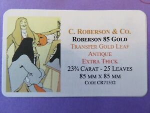 Transfer-Gold-Leaf-Antique-Extra-Thick-23-75-Carat-85-x-85mm-23-Leaves-Roberson