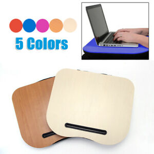 Details About Laptop Tablet Tray Lap Desk Bed Cushion Portable Computer Reading Writing Table
