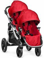 Baby Jogger City Select Twin Tandem Double Stroller Ruby W Second Seat 2017