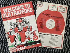 Manchester-United-v-Middlesbrough-1976-Programme-FREE-UK-POSTAGE-LAST-TWO