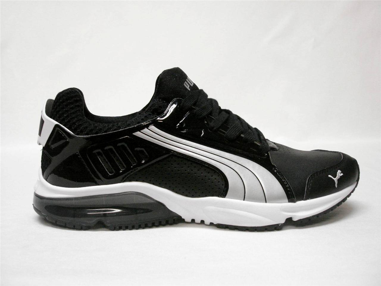 Nuevo En Caja PUMA POWERTECH BLAZE META Hombres Zapatos Plata  ~ Negro ~ Plata Zapatos ~ ~ 13 ~ Bonito Zapato's d969f0