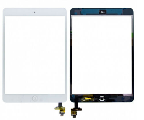 White for iPad Mini 1 2 Touch Screen Glass Digitizer Replacement & Home Button^^