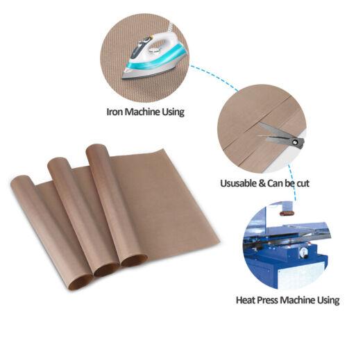 "3Pack Teflon Sheet 16/""x24/"" Heat Press Transfer Art Craft Supply Sewing Tool Add"
