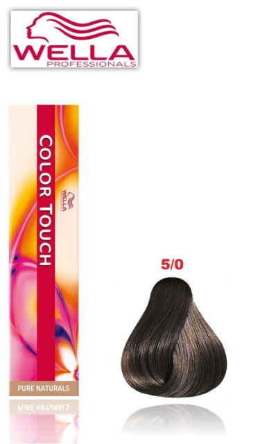Wella Professional Colour Touch Semi Permanent Hair Dye/colour -pure  Natural 5/0 Light Brown