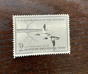 #RW23 1956  - US Federal Duck Stamp - OG Hinged **WELL CENTERED**