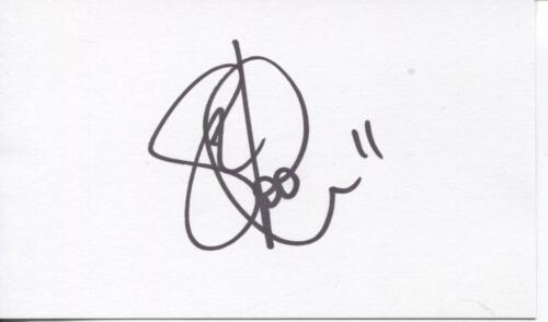 A 13cm x 7.5cm Plain White Card Signed by Gary Hooper of Norwich City