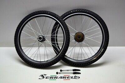 Cicli Ferrareis Cerchi o Ruote Bici 20 Attacco a Disco MTB graziella BMX Pieghevole Nere da 1 a 7 velocit/à