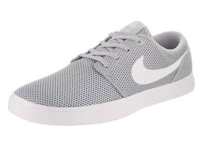 New Nike SB Portmore II Ultralight Mens 880271 011 Grey Mesh Skate Shoes